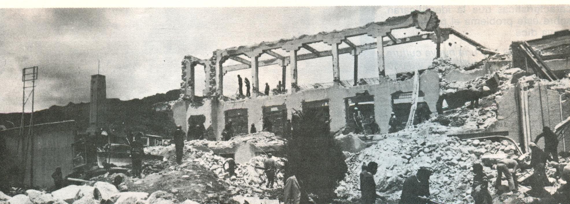 Imagen de la demolición del viejo estadio (1975)