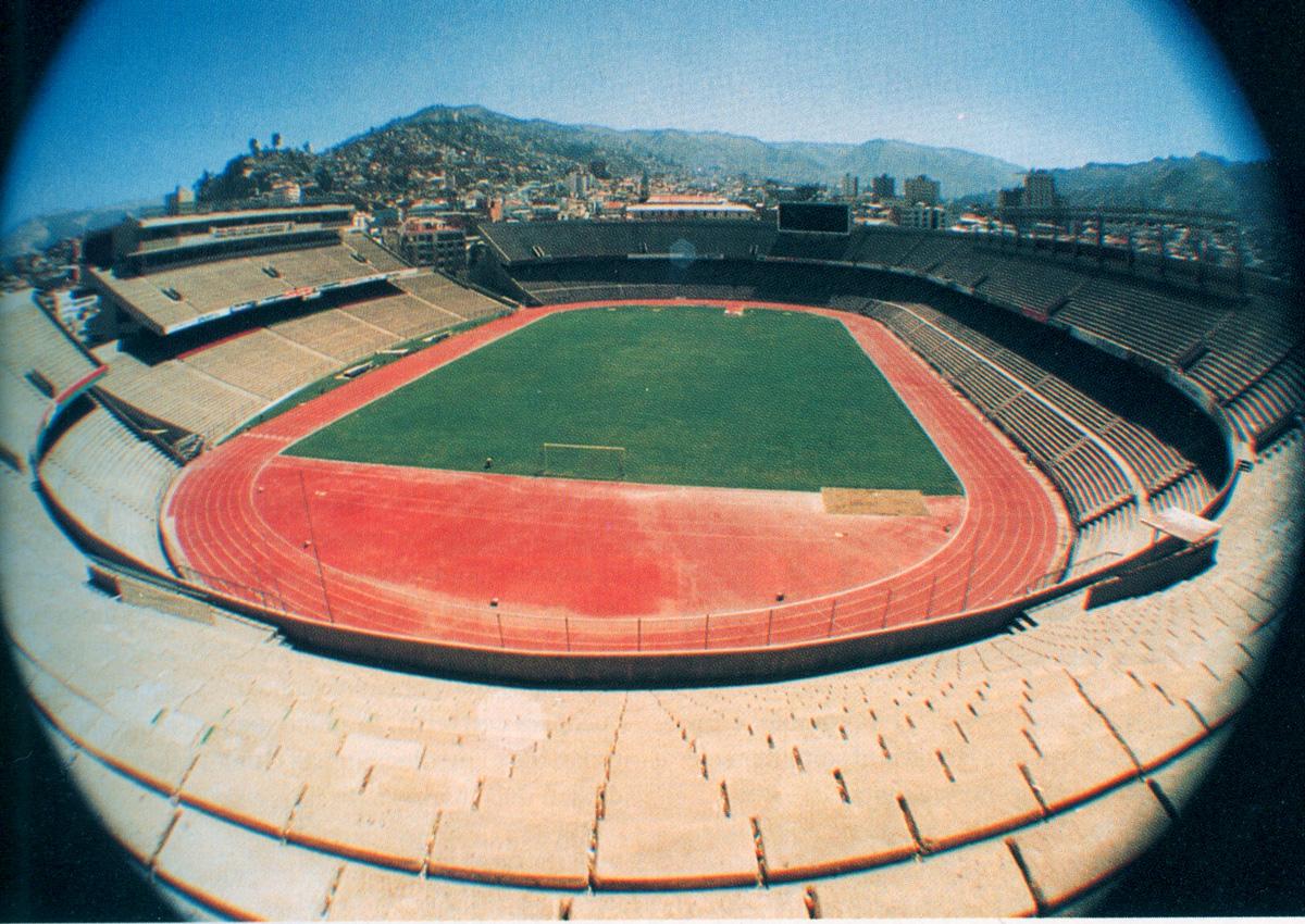 Vista general del nuevo estadio, inaugurado en 1977