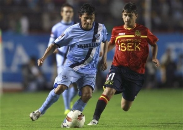 Bolívar perdió sus dos partidos frente a Unión Española de Chile en la fase preliminar de la Copa 2011