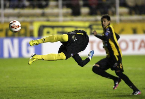 Espectacular imagen del partido disputado en La Paz por The Strongest y Sao Paulo