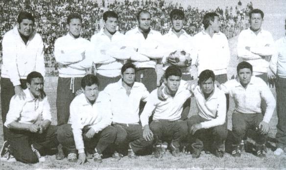 El equipo Bolivia en el proceso de preparación para la eliminatorias de 1969.