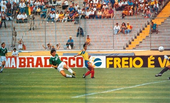 El gol de la clasificación, Ramallo abre el marcador que terminaría 1 a 1.