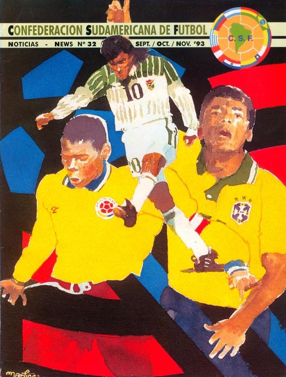 Tapa de la revista de la CONMEBOL, tras la clasificación boliviana al mundial.