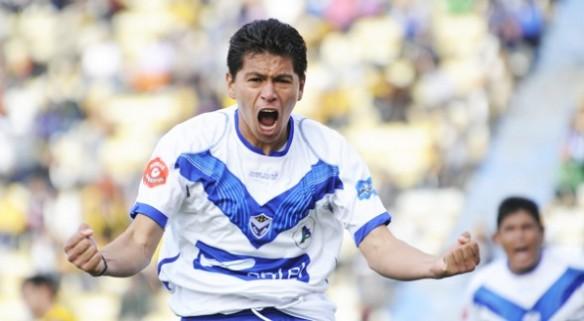 Carlos Saucedo máximo goleador del torneo, junto a su compañero de equipo Gomes