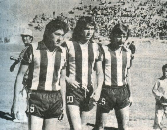 Paredes, Ovidio Mezza y Cañiellas. Mezza fue el líder del equipo que obtuvo el primer campeonato liguero en 1977.