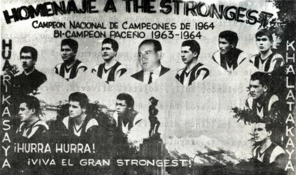 Collage que destaca los títulos paceños y nacional que logró The Strongest en el periodo 1963-1964