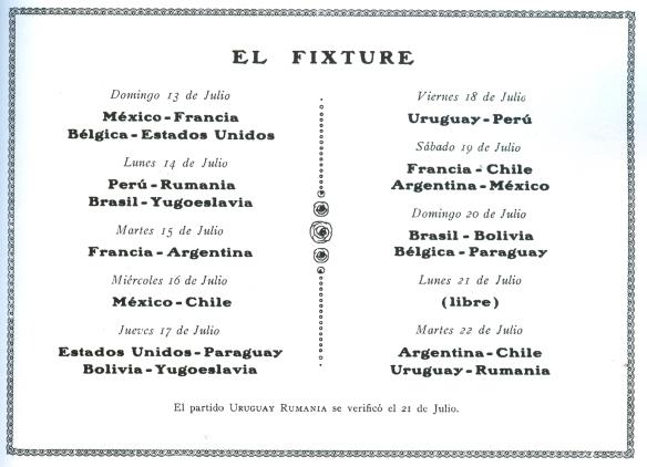 mundial 1930 fixture