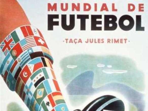 Fragmento del Afiche oficial del Mundial de Fútbol de 1950