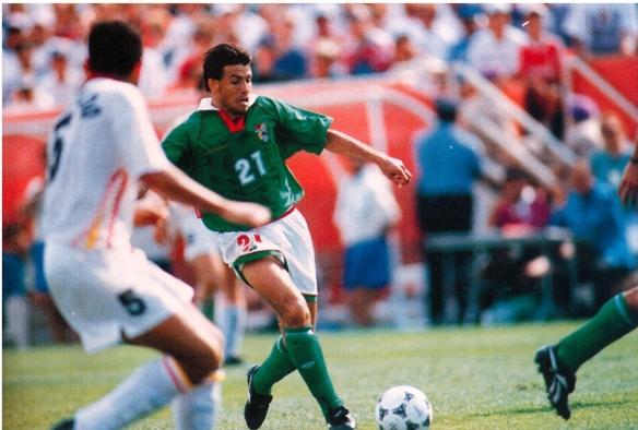 Erwin Sánchez, autor en este partido, del único gol de bolivia en copas del Mundo