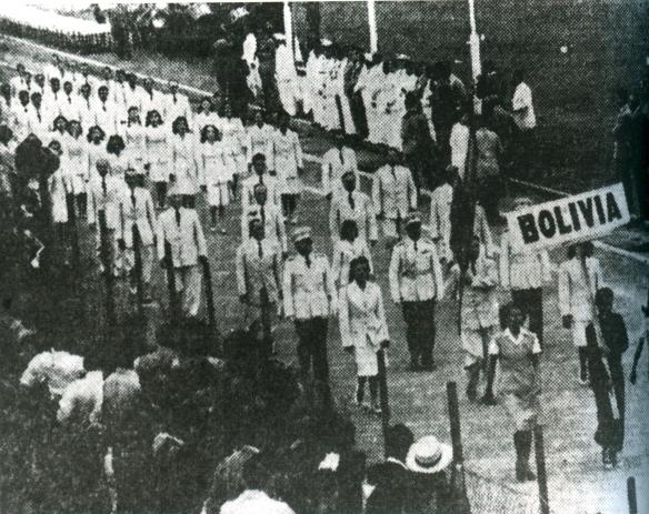 Bolivia obtuvo la medalla de plata en los Juegos Bolivarianos de 1938 disputados en Bogotá