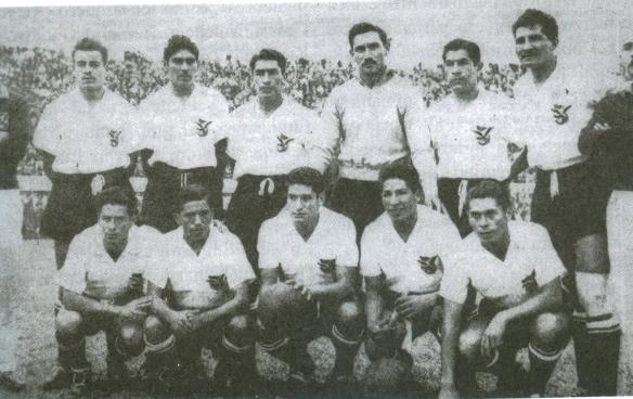 1957, Bolivia participa por primera vez en una Eliminatoria