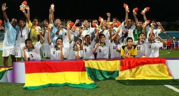 Oro Olímpico en Singapur. Selección boliviana Sub-15