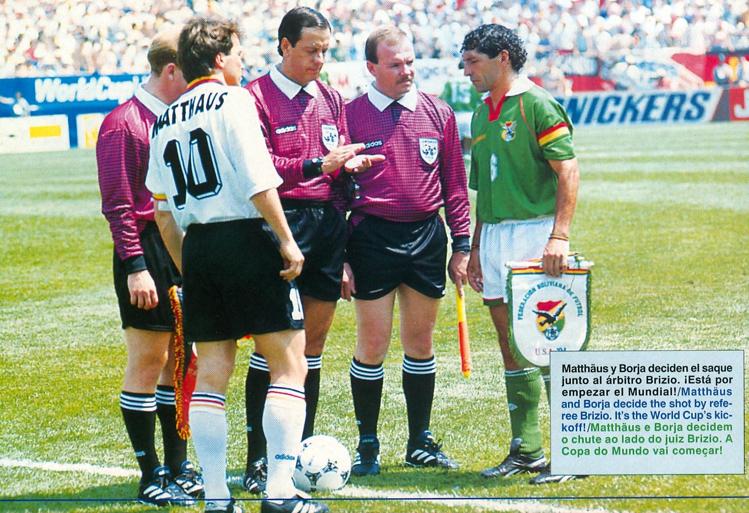 Bolivia abrió el Mundial de 1994 frente a Alemania, en su tercera participación en esta competencia