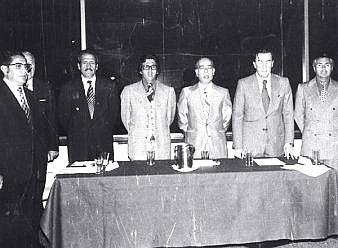 Acto de creación de la Liga del Fútbol Profesional, La Paz 1977